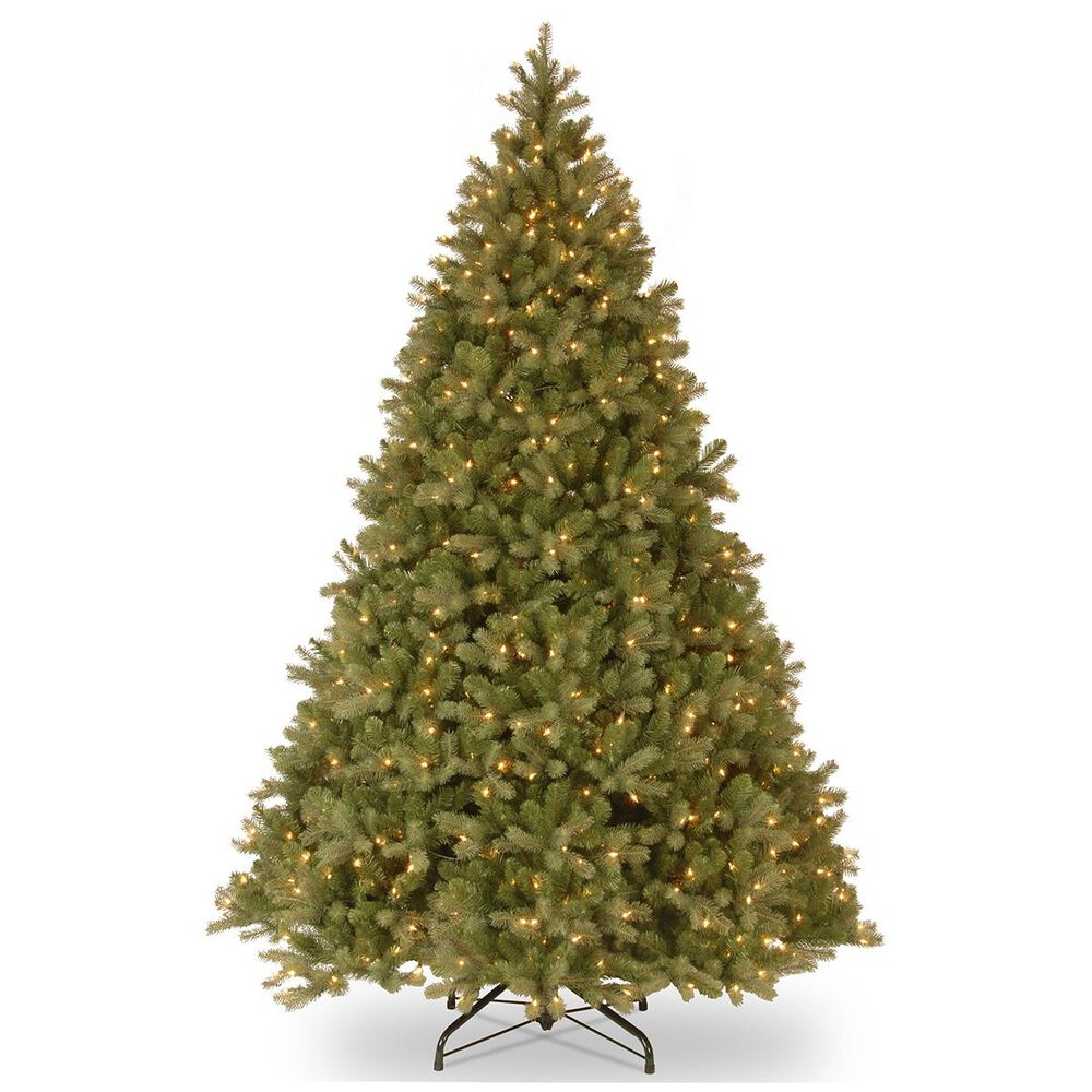 """National Tree 10"""" Feel Real Downswept Douglas Hinged Tree with 1200 White Lights, , large"""