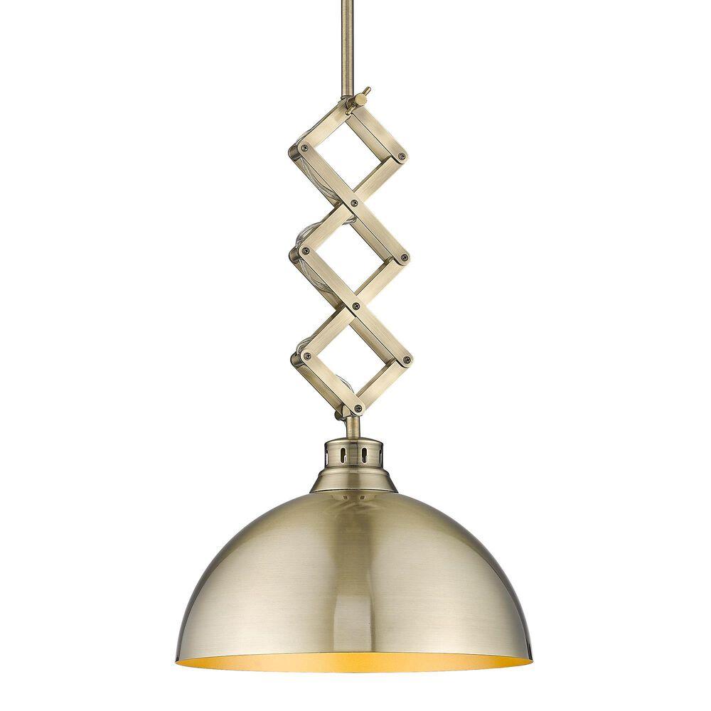 Golden Lighting Hawthorn Medium Pendant in Aged Brass, , large