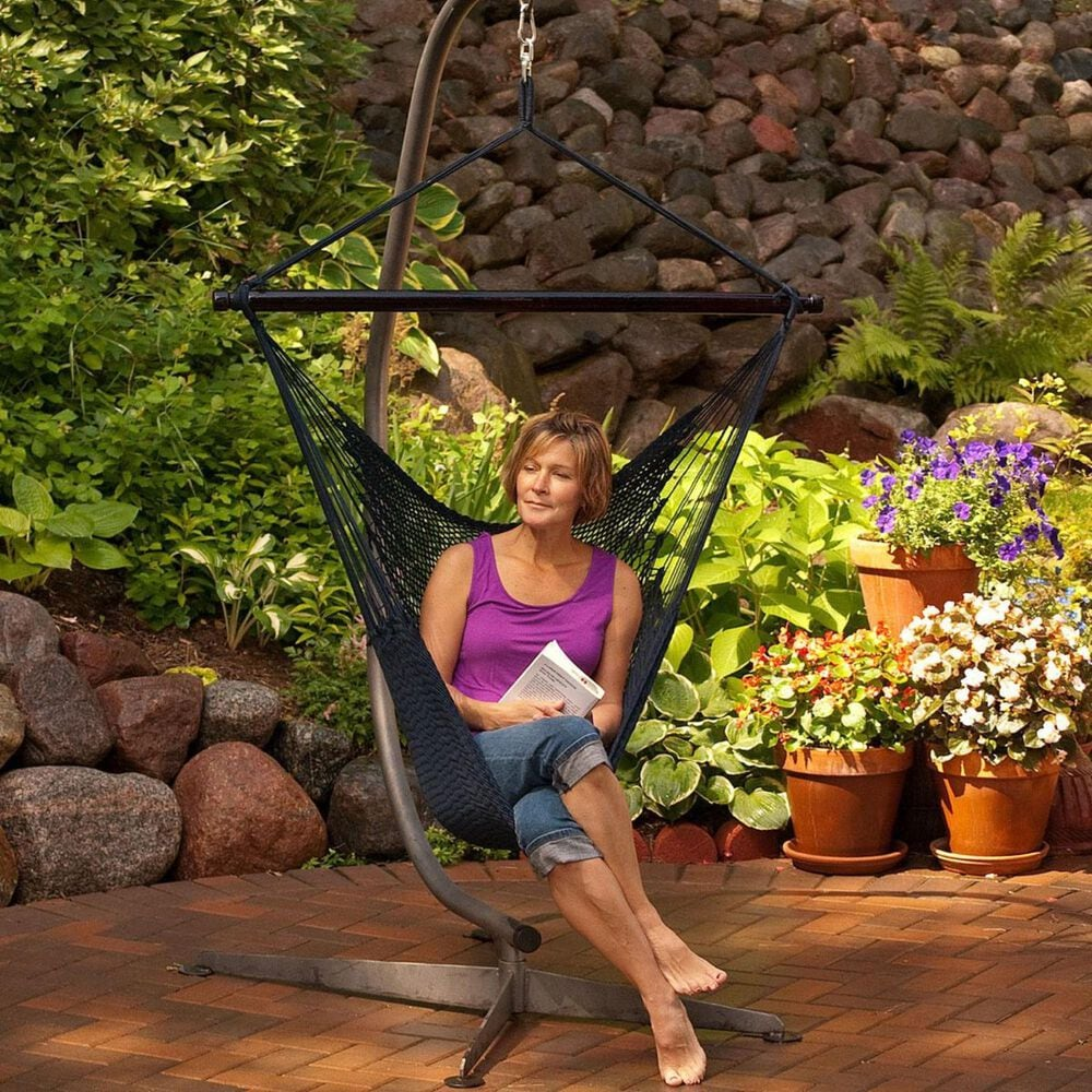 Algoma Rope Hammock Chair in Navy, , large