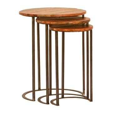 Blue Sun Designs Joyce 3-Piece Nesting Table Set in Nantucket, , large