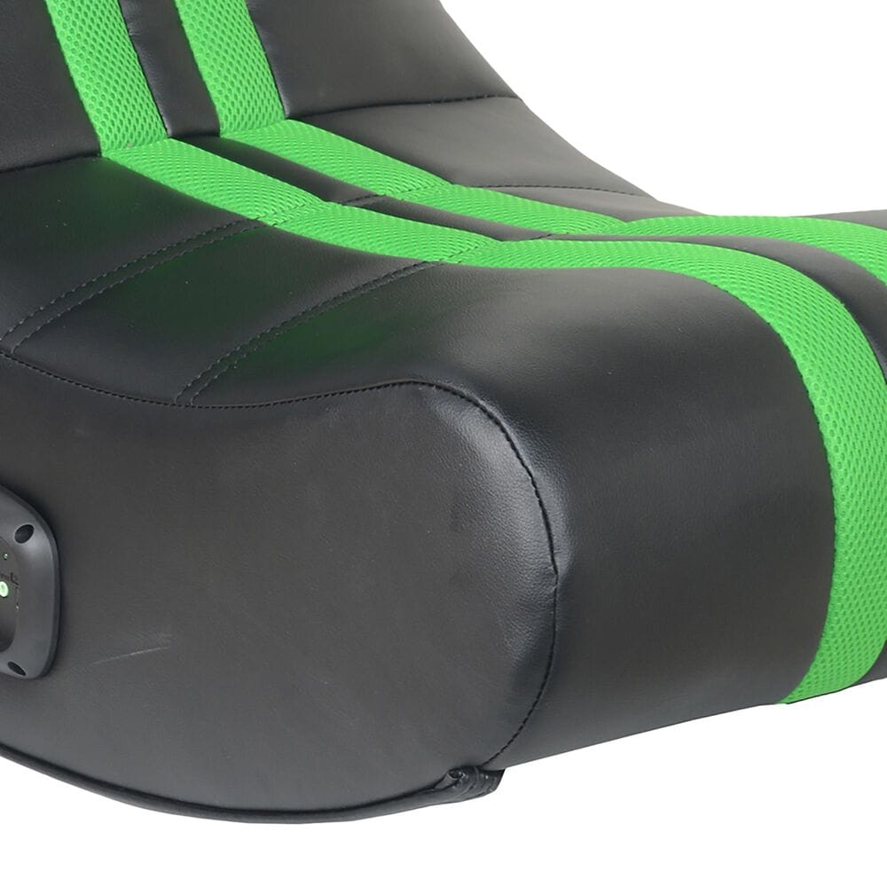 X-Rocker SE+ 2.0 Bluetooth Foldable Rocking Video Gaming Chair with 2 Speakers/Green/Black, , large