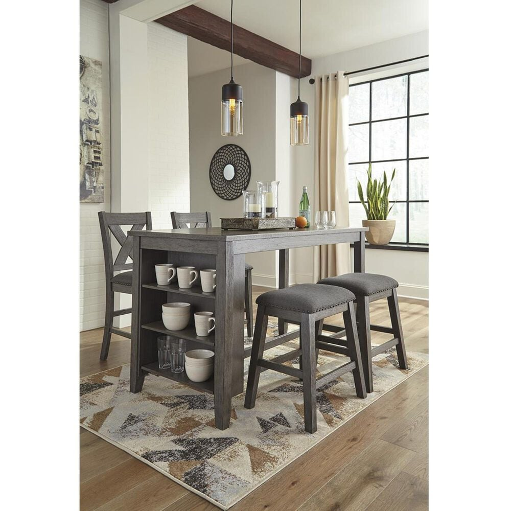 Signature Design by Ashley Caitbrook Counter Table in Antiqued Gray Wash - Table Only, , large