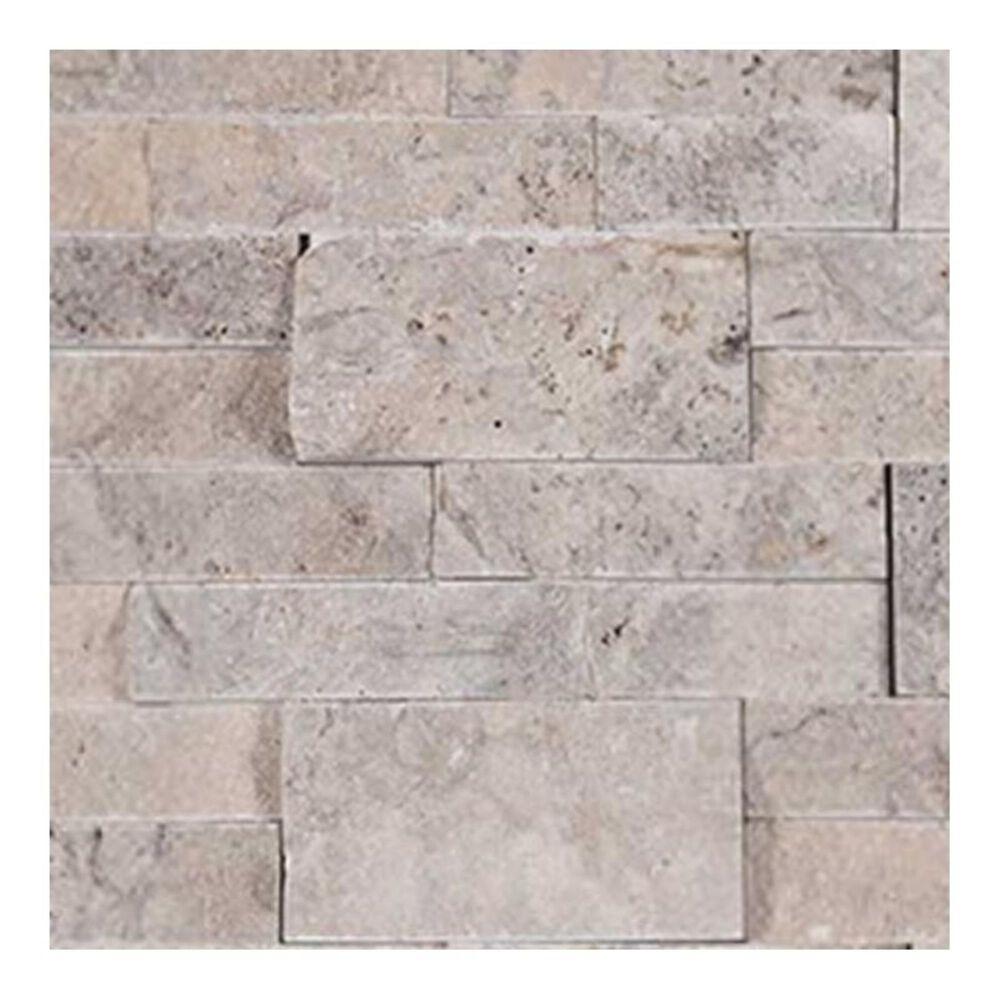 "MS International Silver Travertine 6"" x 24"" Natural Stone Tile, , large"