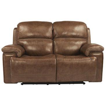 Flexsteel Fenwick Power Loveseat with Headrest in Light Brown, , large