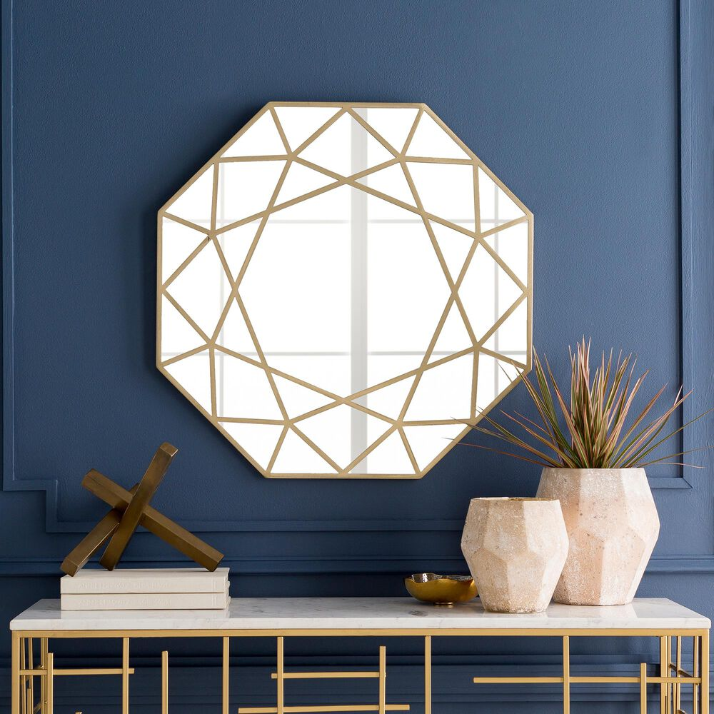 Surya Inc Hollingsworth Wall Mirror in Gold, , large