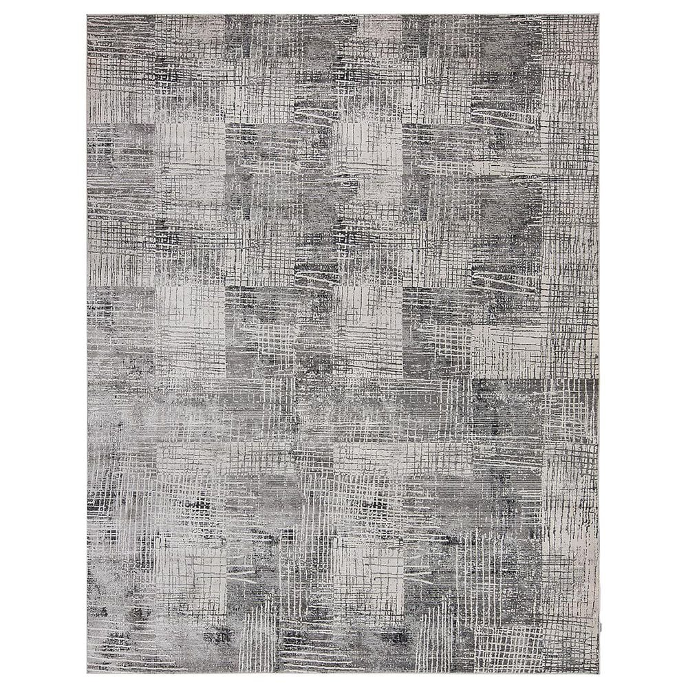 Harounian Rugs Sunbrella S10-13D 4' x 6' Silver and Black Area Rug, , large