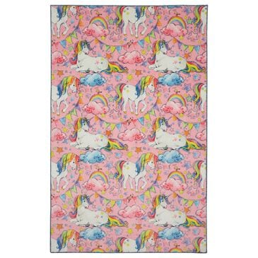 "Karastan Prismatic 3'4"" x 5' Pink Kids Area Rug, , large"