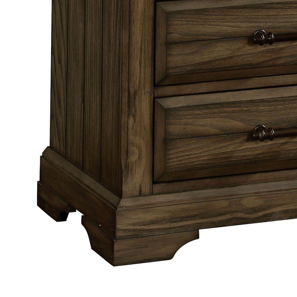 Furniture of America Vaughn 3 Drawer Nightstand in Light Walnut, , large