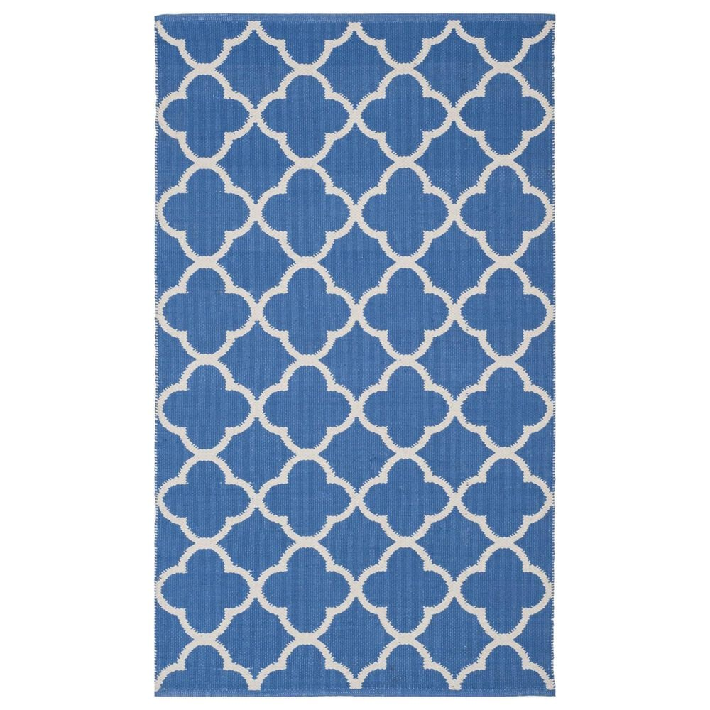 Safavieh Montauk MTK725  3' x 5' Blue and Ivory Area Rug, , large