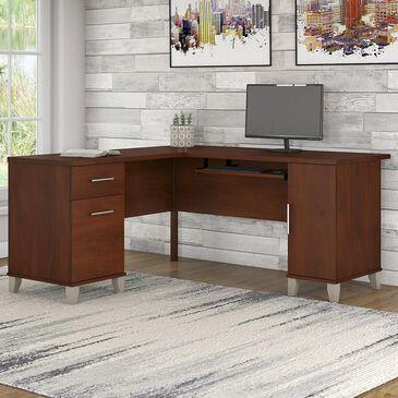 "Bush Somerset 60"" L Shaped Desk in Hansen Cherry, , large"