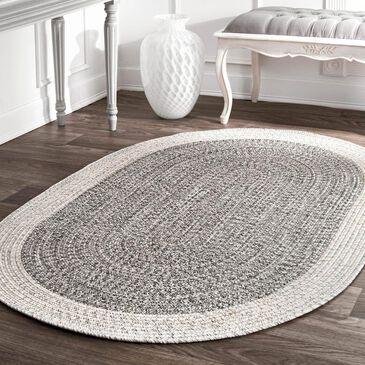 nuLOOM Festival HJFV06A 5' x 8' Oval Grey Area Rug, , large