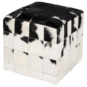 Butler Victorian Pouffe in Black and White, , large