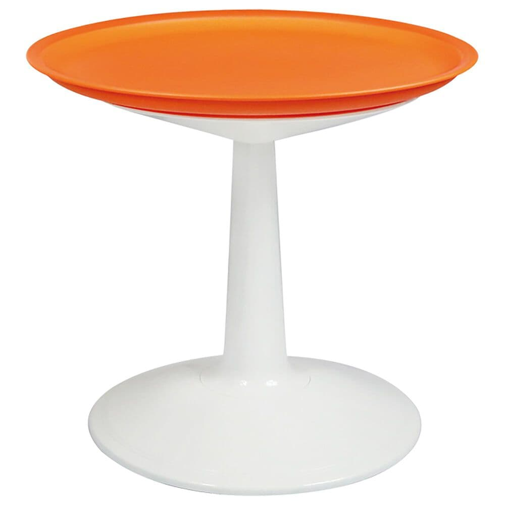 Lagoon Furniture Sprout Round Side Table in Orange, , large