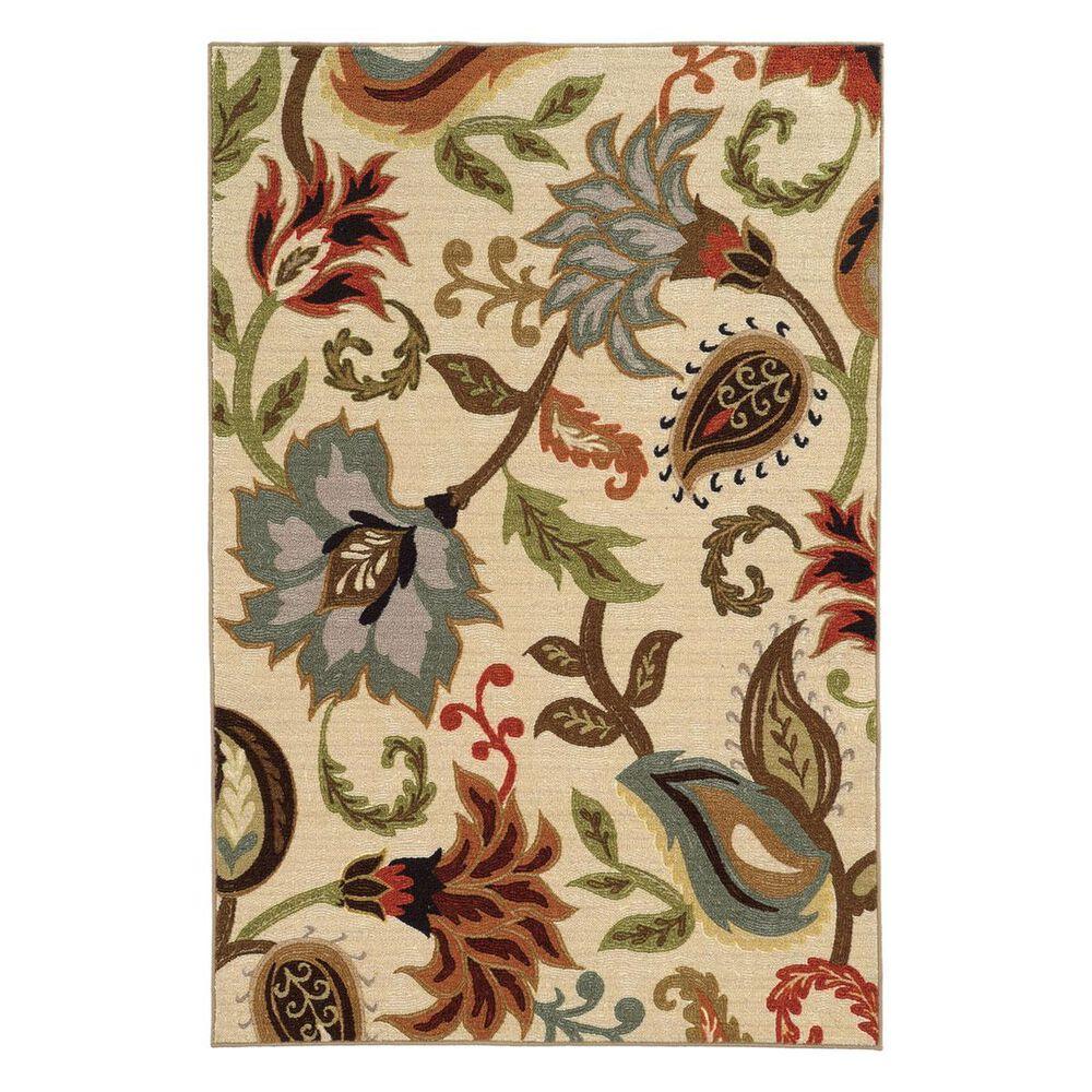 "Oriental Weavers Arabella 15927 6""7"" x 9""3"" Ivory Area Rug, , large"