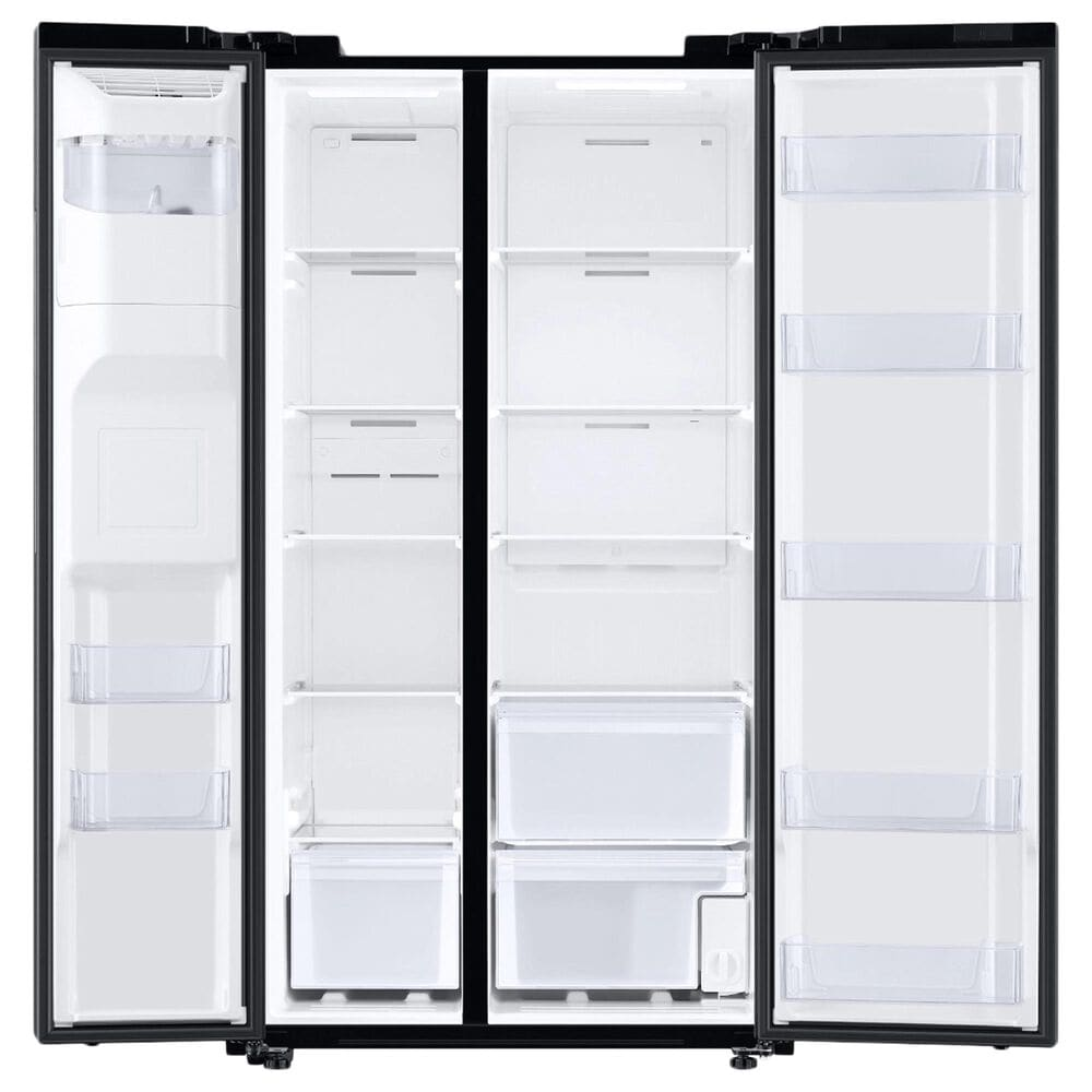 Samsung 27.4 Cu. Ft. Large Capacity Side by Side Refrigerator in Black Stainless Steel, , large