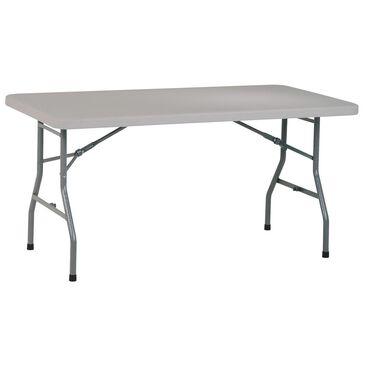 OSP Home 5' Folding Multi Purpose Table in Light Grey, , large