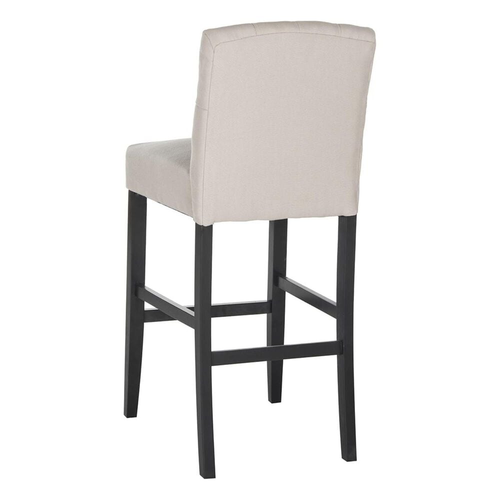 Safavieh Maisie Bar Stool with Taupe Upholstered, , large