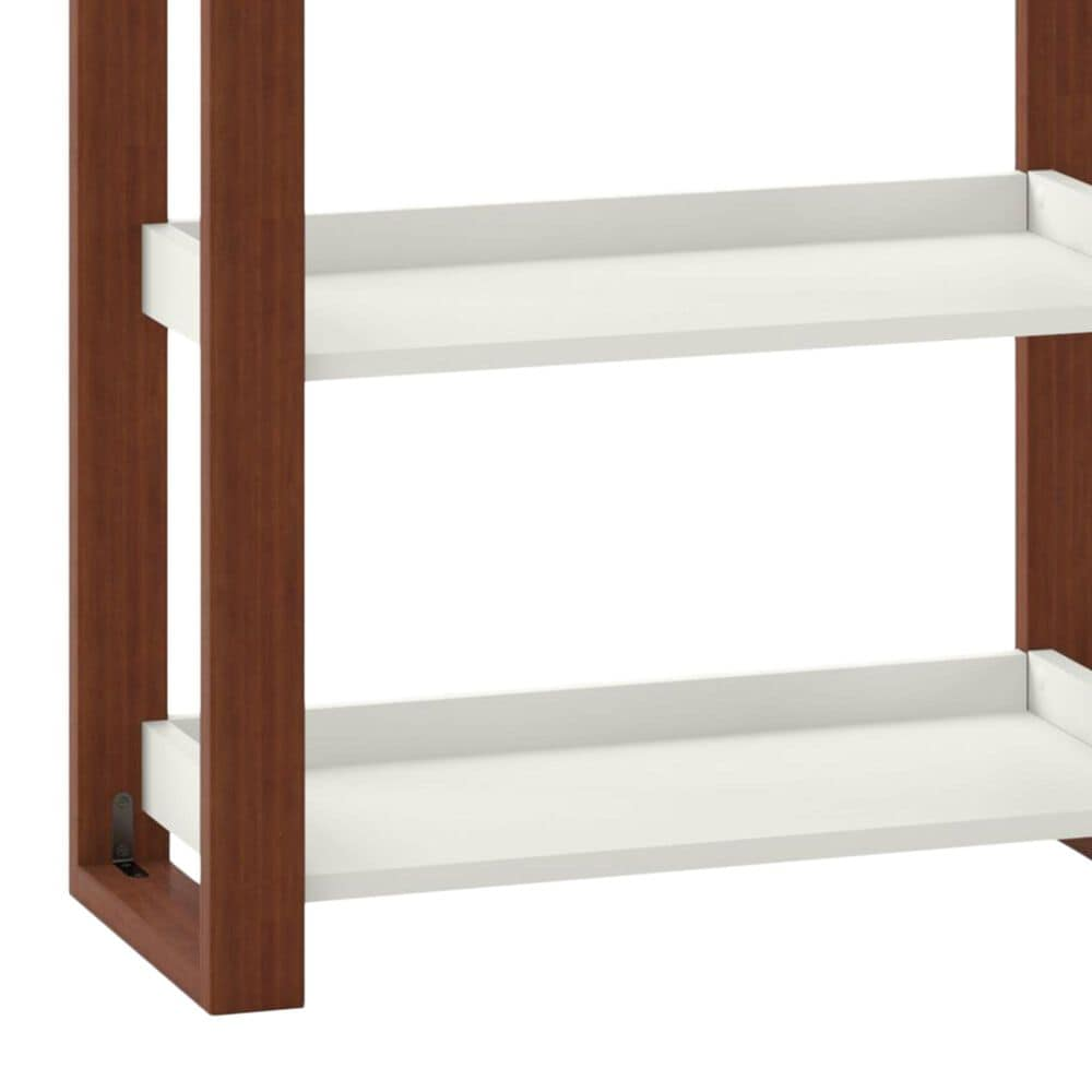 Bush Voss 5-Shelf Etagere Bookcase in Cotton White, , large