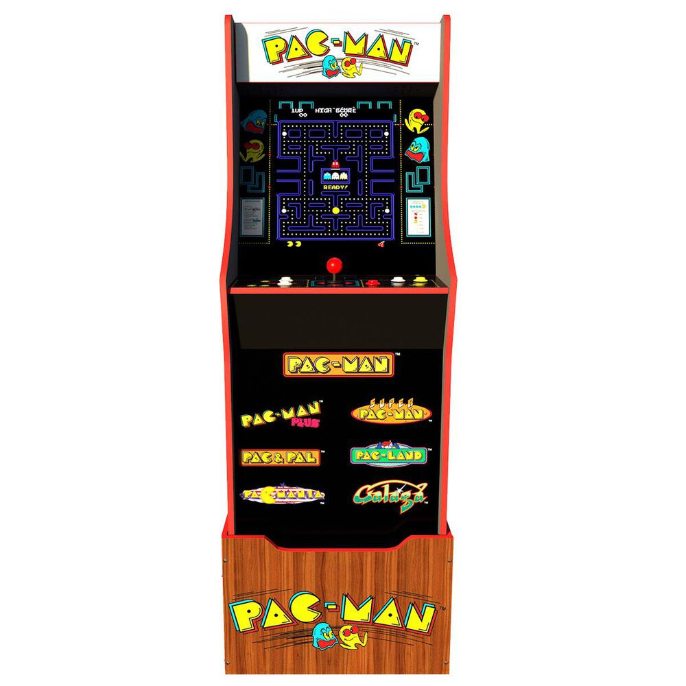 Arcade1up 4' Pac-Man 40th Anniversary Edition Arcade Game with Riser and Stool, , large