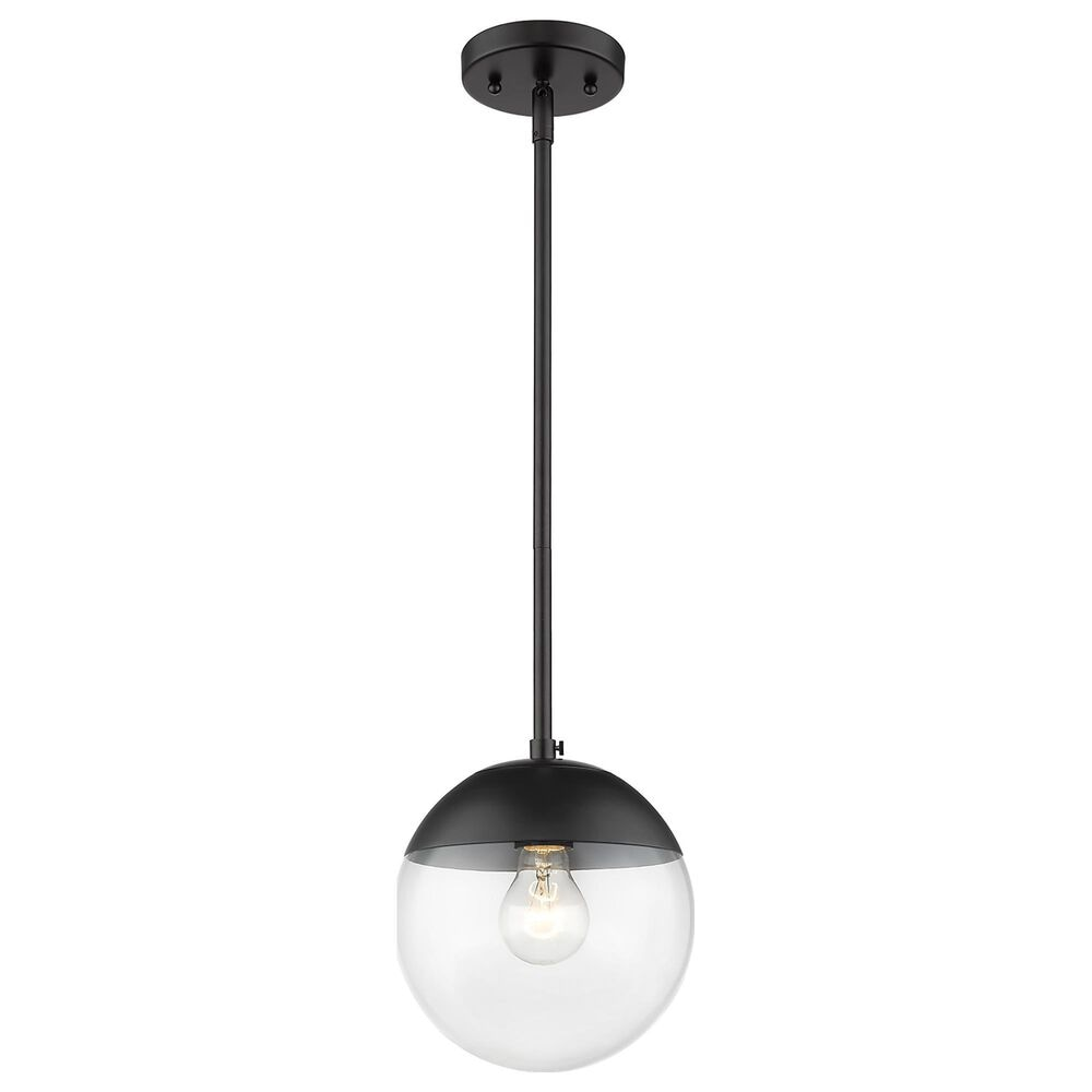 Golden Lighting Dixon Small Pendant with Rod in Matte Black, , large