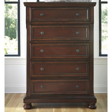 Millennium Porter 5 Drawer Chest in Burnished Brown, , large