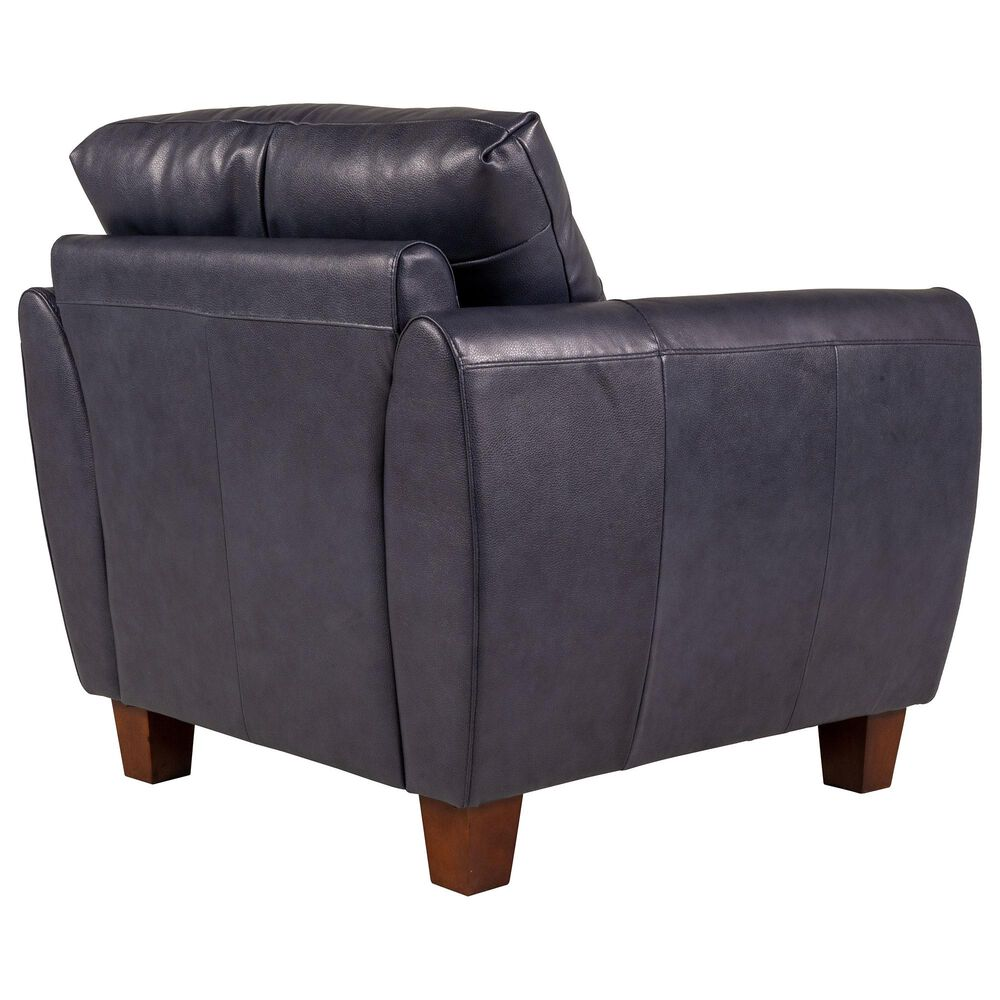 Italiano Furniture Leather Chair in Blue, , large