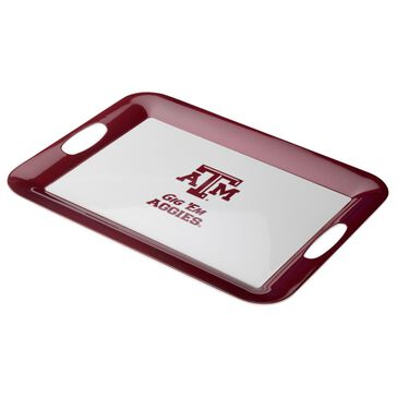 "Texas A&M University 16"" x 12.5"" Party Platter in White, , large"