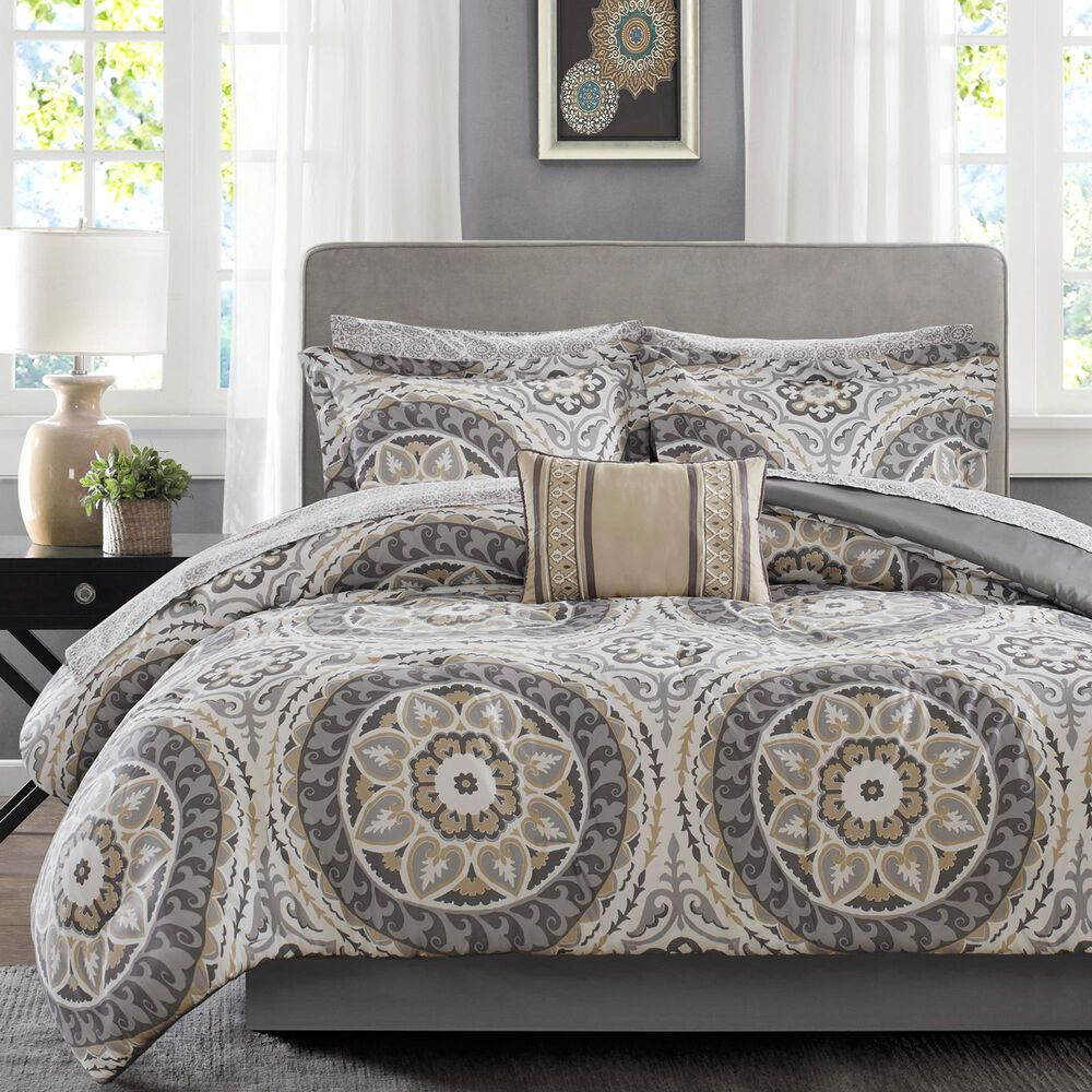 Hampton Park Serenity 9-Piece Queen Comforter Set in Taupe, , large