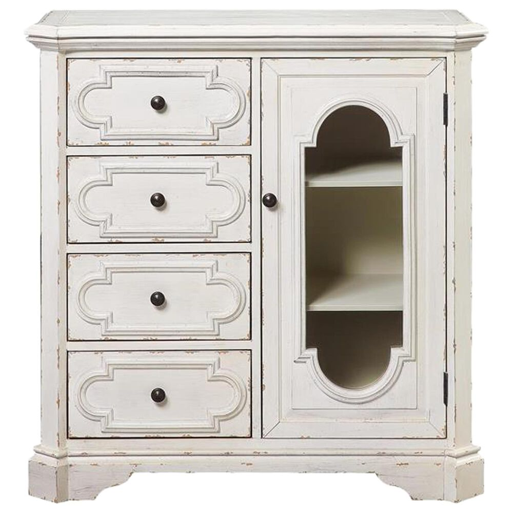 Shell Island Furniture Four Drawers One Door Chest in Decor White, , large