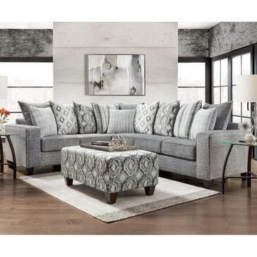 Arapahoe Home 2-Piece Sectional in Stonewash Charcoal, , large