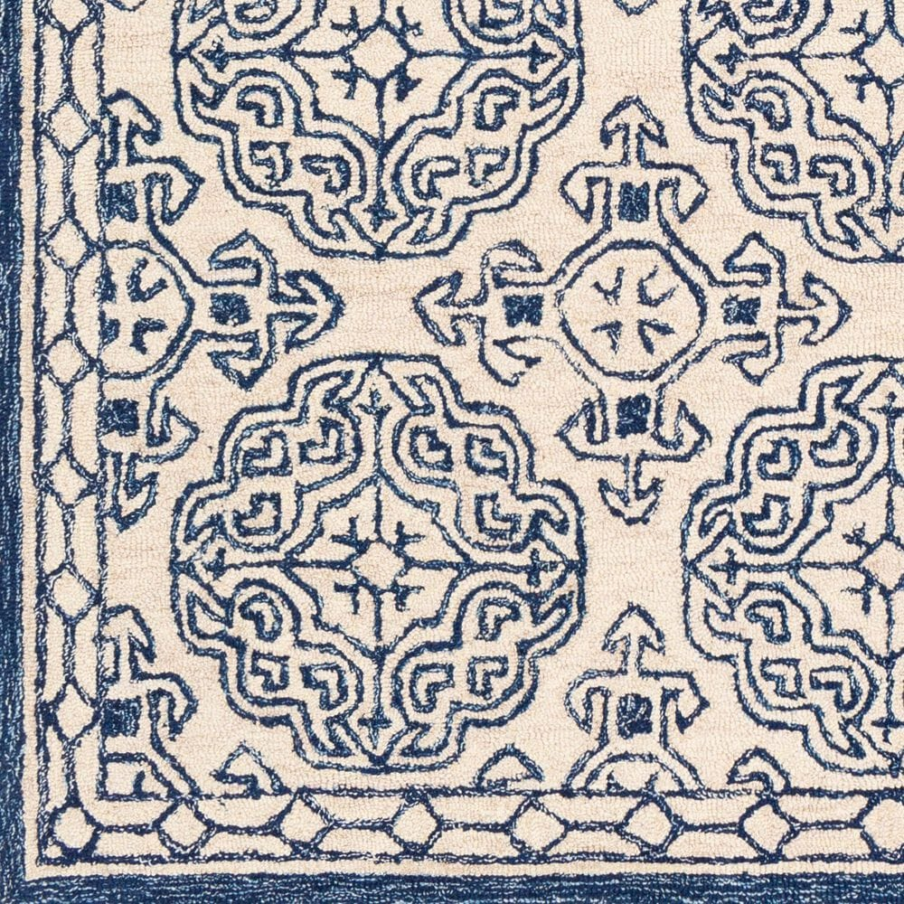 "Surya Granada GND-2303 2'6"" x 10' Dark Blue, Denim and Ivory Runner Rug, , large"