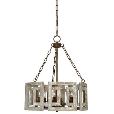 Southern Lighting Northwood Chandelier in Grey and White, , large