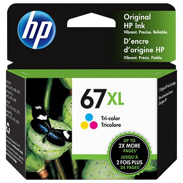 HP HP 67XL High Yield Tri-Color Original Ink Cartridge, , large