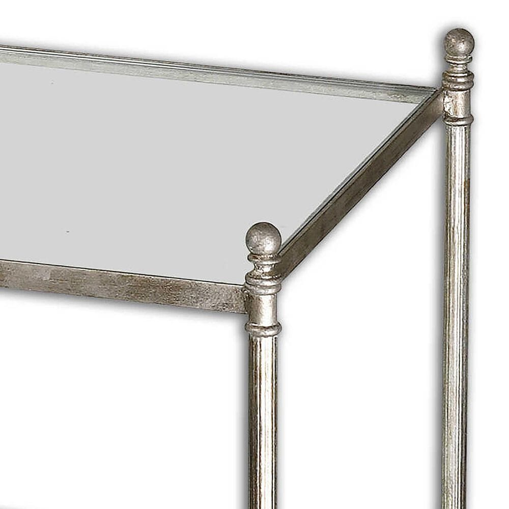 Uttermost Gannon Coffee Table in Antique Silver Leaf, , large