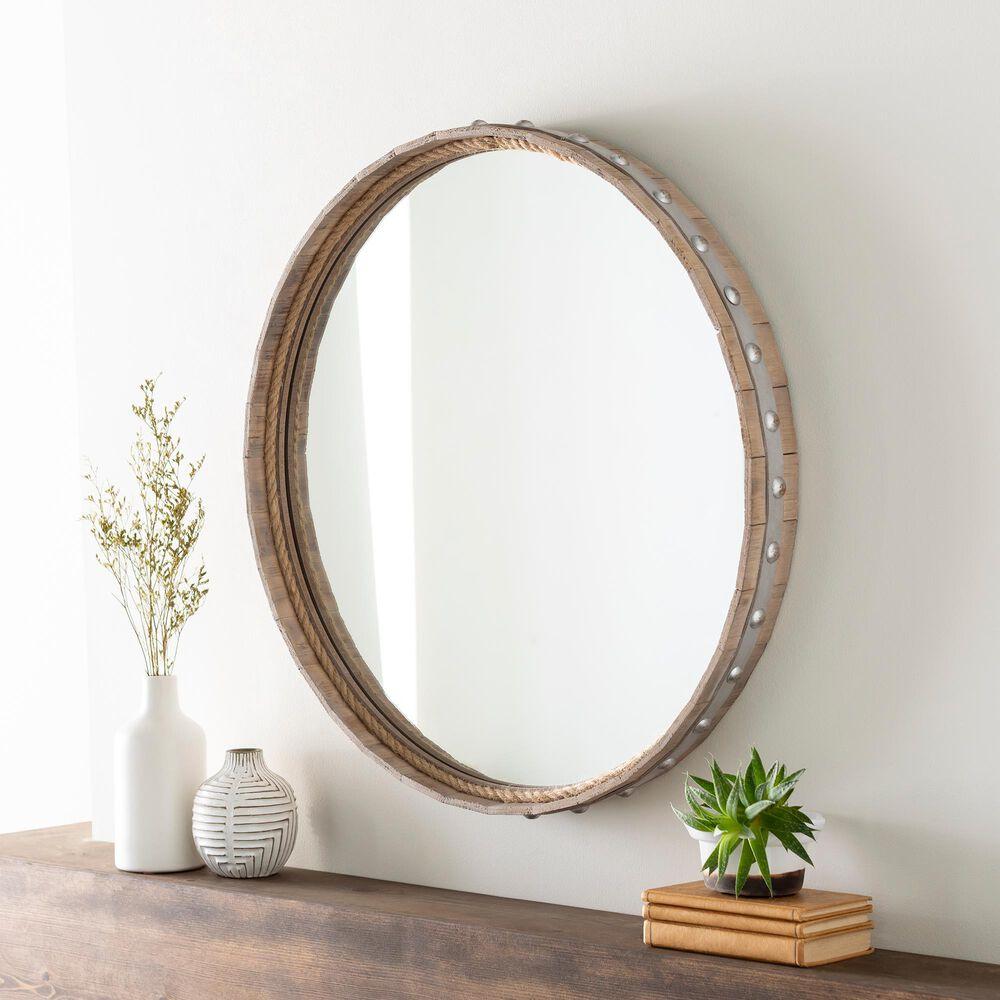 Surya Inc Misha Wall Mirror in Natural, , large