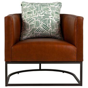 Century Declan Chair in Chetan Terra Cotta Leather , , large