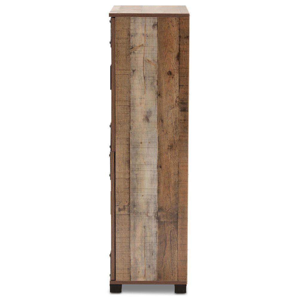 Baxton Studio Cyrille 4-Door Shoe Cabinet in Brown, , large
