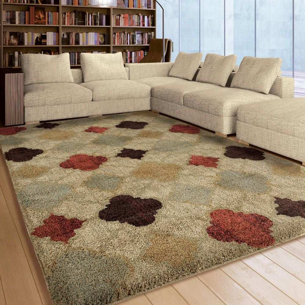 """Orian Amer Heritage Malbeck 4314 5'3"""" x 7'6"""" Bisque Area Rug, , large"""