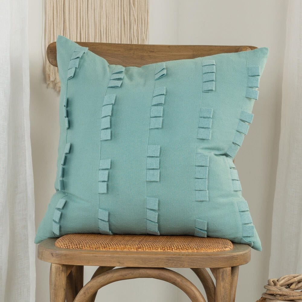 """Rizzy Home Donny Osmond Solid 20"""" Pillow Cover in Aqua, , large"""