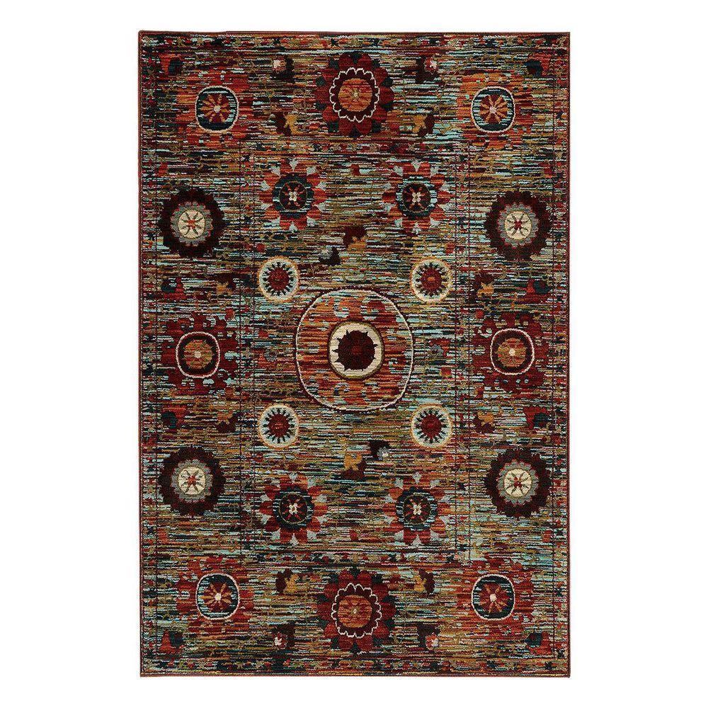 """Oriental Weavers Sedona 6408K 7'10"""" x 10'10"""" Multicolor Area Rug, , large"""