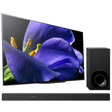 """Sony 65"""" Class - OLED - A9G MASTER Series - 2160p - 4K UHD with HDR - Smart TV + 3.1 Ch Hi-Res Sound Bar with Wireless Subwoofer - Black, , large"""