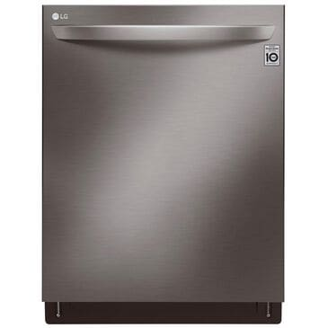 LG Top Control Wi-Fi Enabled Dishwasher with QuadWash and TrueSteam in Black Stainless Steel , , large