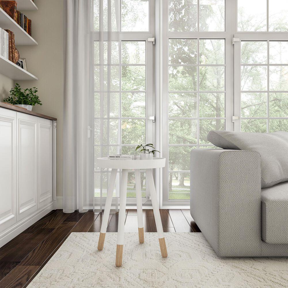 Timberlake Lavish Home End Table in White, , large
