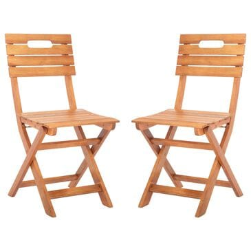 Safavieh Blison Folding Chairs in Natural (Set of 2), , large