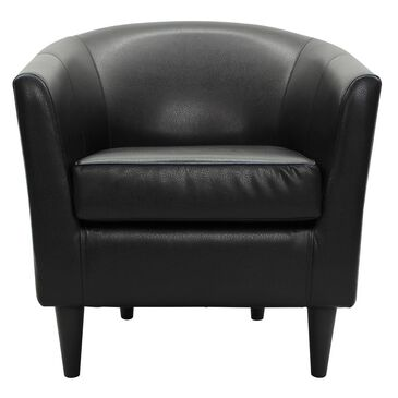 Overman International Corp Accent Chair in Rodeo Black, , large