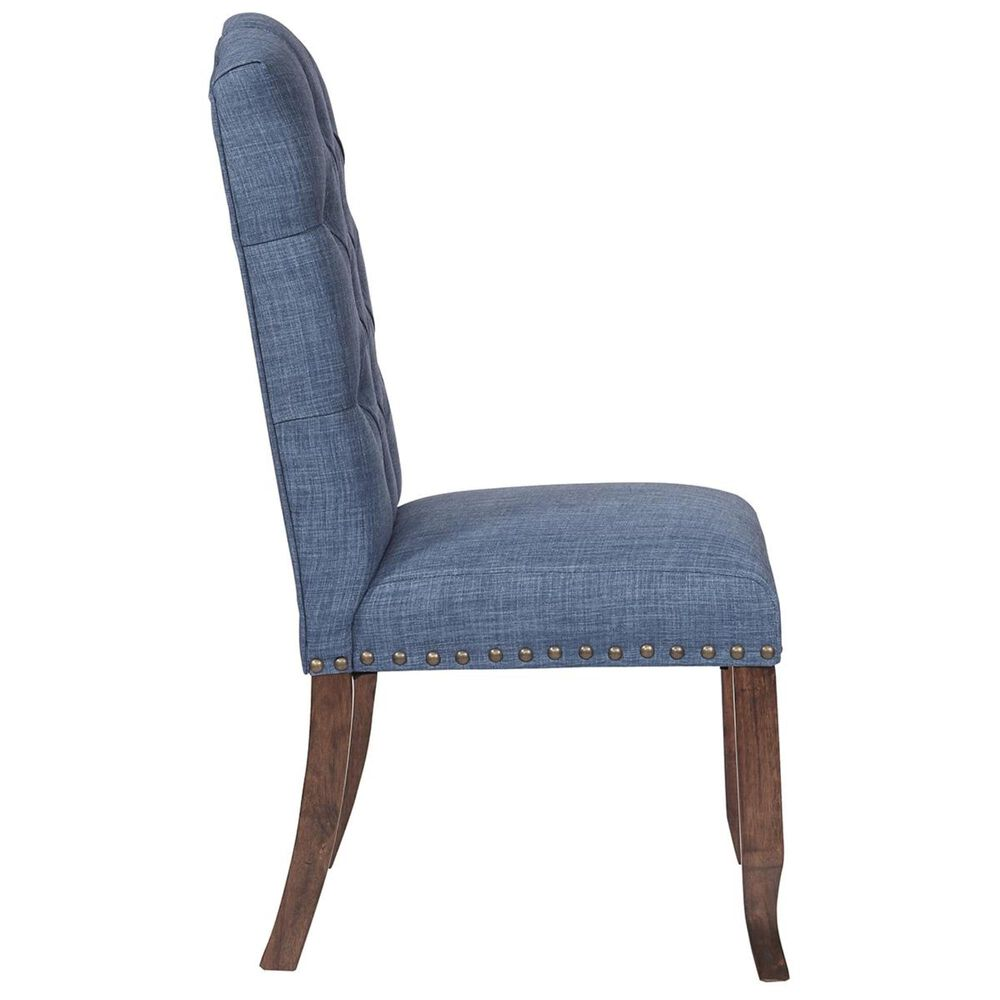 OSP Home Jessica Tufted Dining Chair in Navy, , large