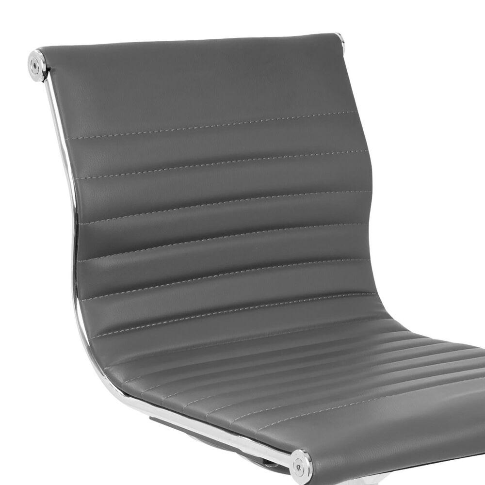 Lumisource Master Adjustable Barstool in Grey/Chrome, , large