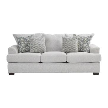 Southaven Sofa in Cloud White with Toss Pillows in Homeward Chambray and Joyride Mist, , large