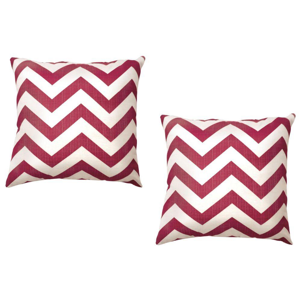 "Furniture of America Moran 18"" Throw Pillow in Red (Set of 2), , large"