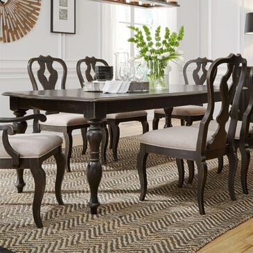 Belle Furnishings Chesapeake Rectangle Dining Leg Table in Antique Black, , large